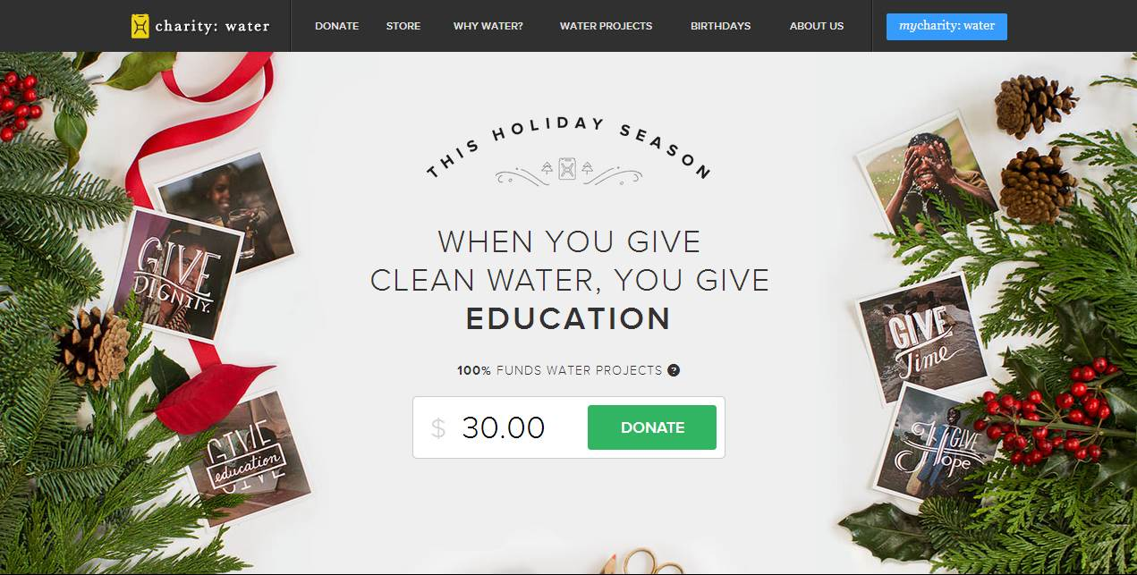 Year-End Fundraising Website